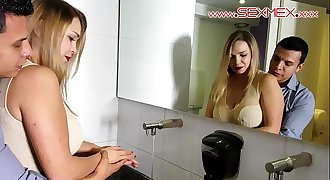 Eva Davai Milf gets fucked in a restraunt by multiple youthfull studs