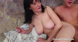 Busty Mother Fucking Son'_s Cock - Full Movie