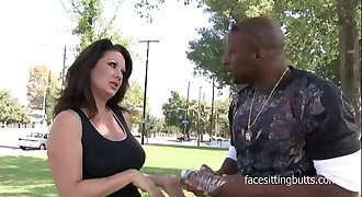 41 year old cougar can'_t get enough of big black cocks