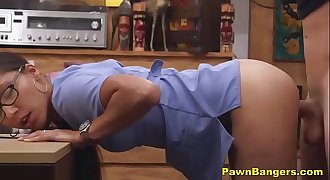 Real Teen Nurse Shoves Undies Up Her Snatch