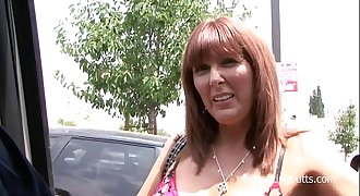 Horny mom picked up at the parking lot and fucked hard