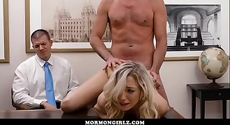 Girl fucked while her cuckold boyfriend watches