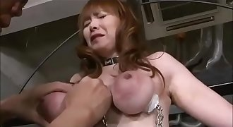 Torture and destuction of her beautiful tits