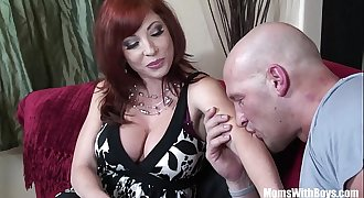 Redhead Mom Brittany O'_Connell Pierced Beaver In Sexy Stockings Fucked