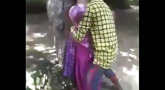Desi teenager enjoying fucking in jungle